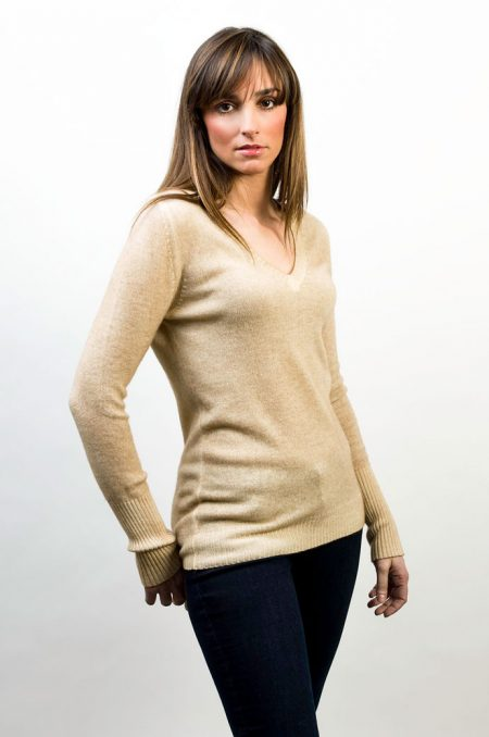 Knit V Neck Two Colors Reversible - cod. T301