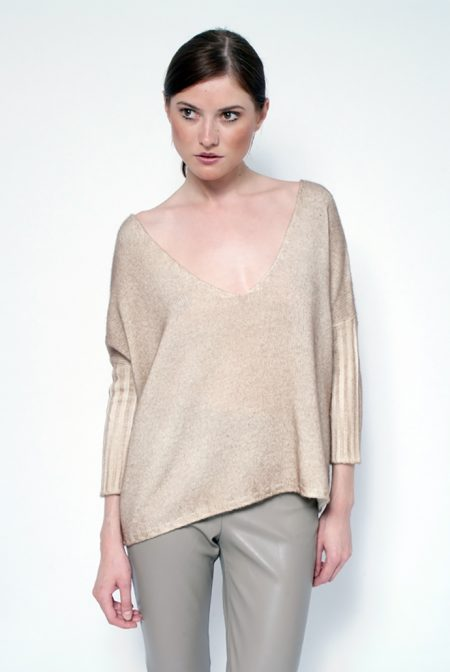 Cashmere over v neck - cod. B580
