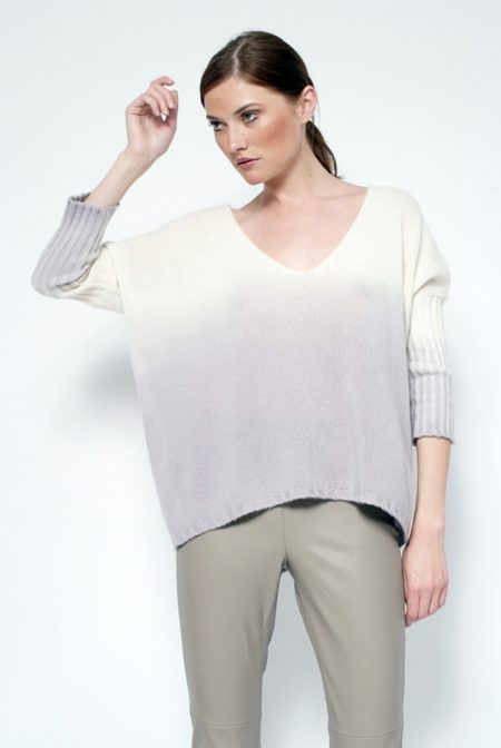 Cashmere faded over v neck - cod. B582/S