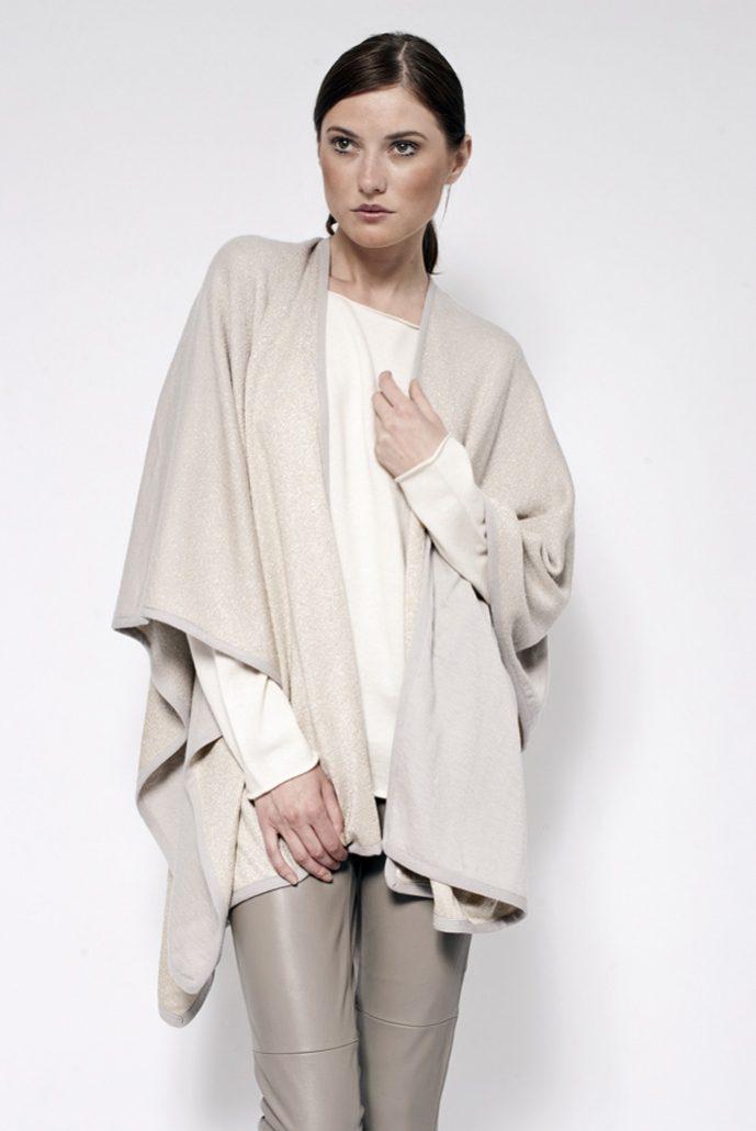 Cashmere lurex faded shawl - cod. 20/33