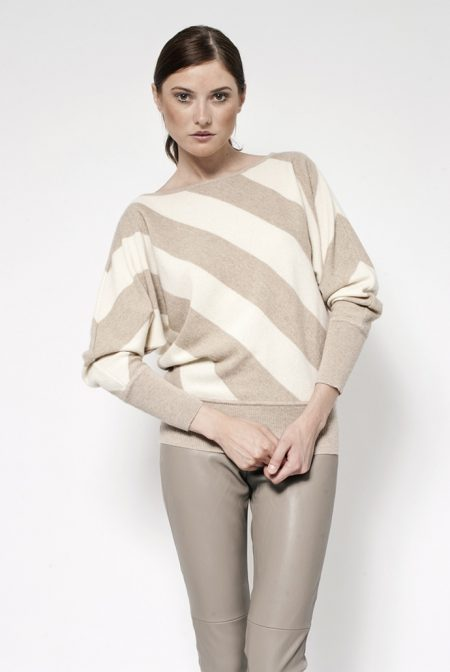 Cashmere bi color bat knit - cod. B583